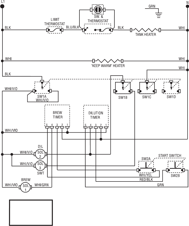 bunn tu3 schematic wiring diagram tu3 w/sweetener  manuals