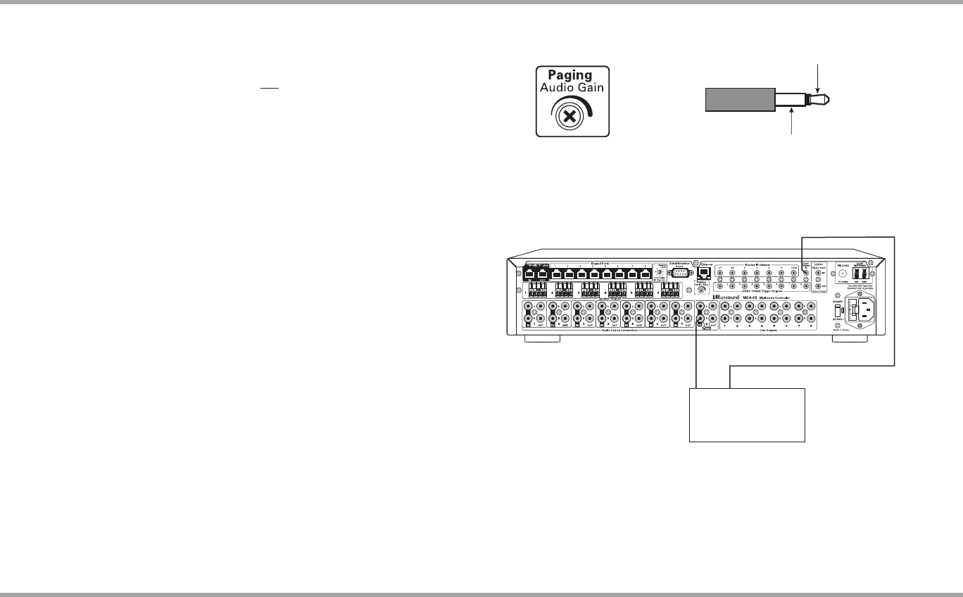Russound Mca C5 Page Trigger In Paging Audio Out Typical Wiring Diagram