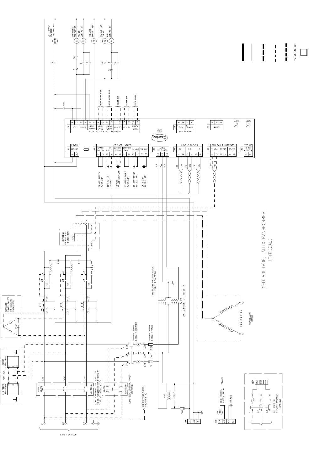 Carrier 19xr xrv fig 56 typical autotransformer starter wiring 56 typical autotransformer starter wiring schematic medium voltage asfbconference2016 Gallery