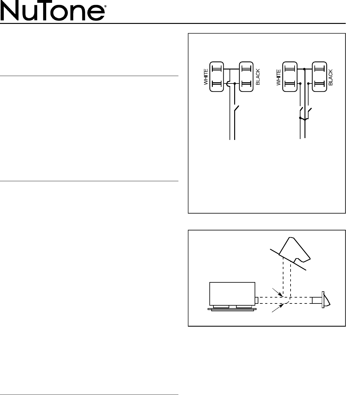Nutone F305c Installation Instructions Toggle Switch Wiring