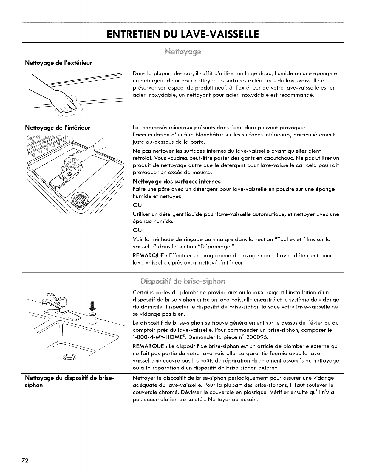 Nettoyer Interieur Lave Vaisselle kenmore 665.1404 entretien du lave-vaisselle