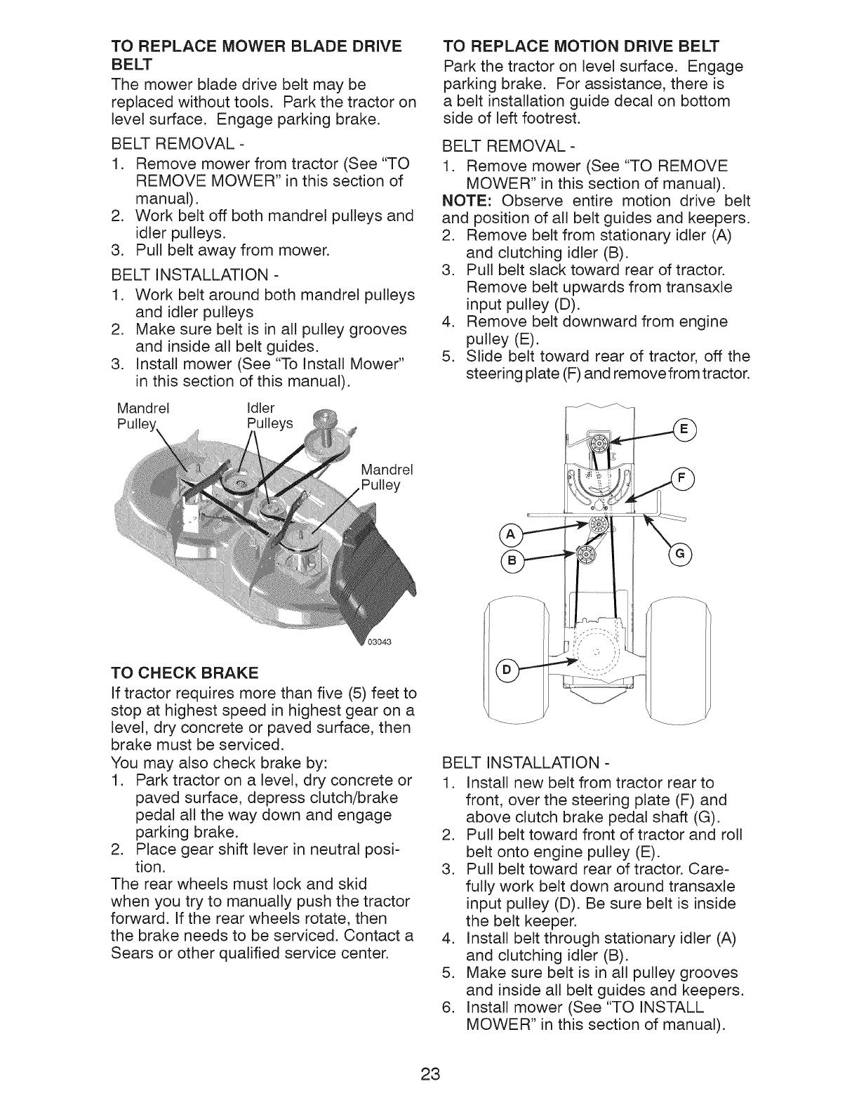 25 Craftsman Yt 3000 Belt Diagram