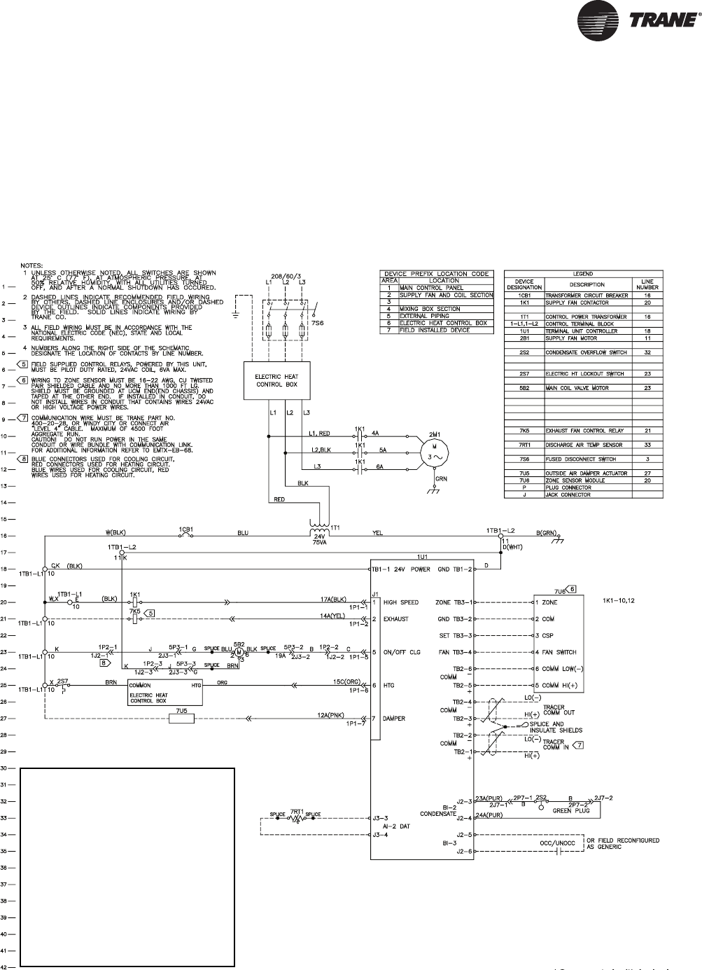 Trane Bchc Bcvc Bcxc Svx01b En Wiring Diagrams Fan Coil Unit Diagram Two Pipe With Tracer Zn510