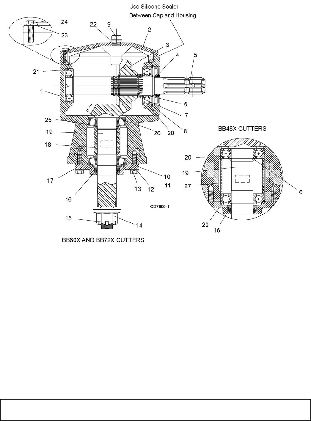 Woods Equipment BB48X, BB60X, BB72X, BB84X GEARBOX ASSEMBLY (CAST