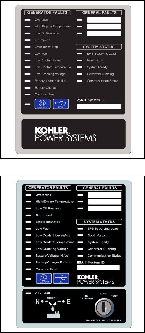 Kohler 20-3250 kW 6 1 11 Remote Serial Annunciator