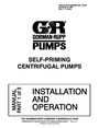 AC International SELF-PRIMING CENTRIFUGAL PUMPS Manual