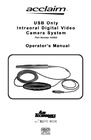 Acclaim Lighting ACCLAIM USB ONLY INTRAORAL DIGITAL VIDEO CAMERA SYSTEM Manual