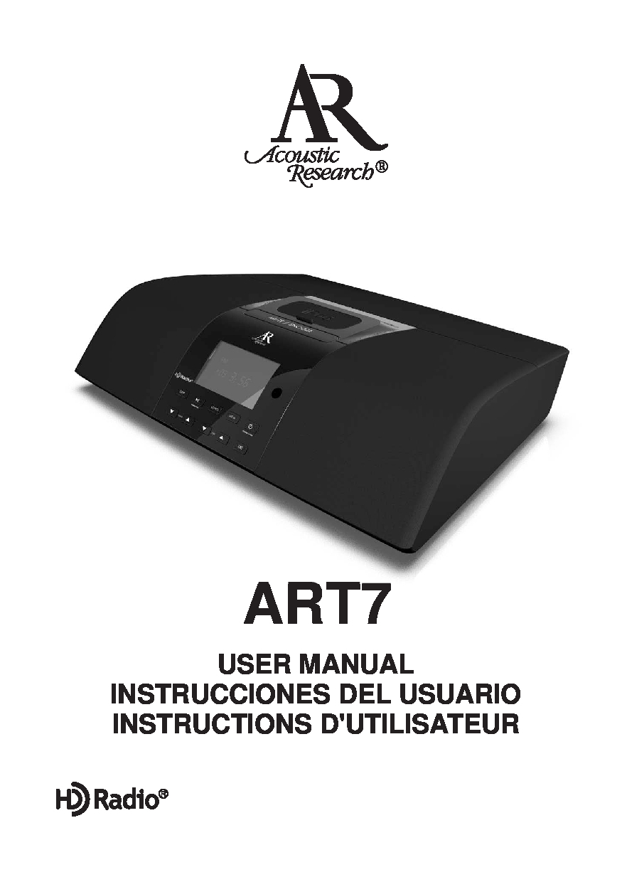 Acoustic Research ART7 User Manual
