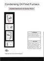 Adams Condensing Oil-Fired Furnace Operation Manual