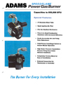 Adams Power Gas Burner Manual