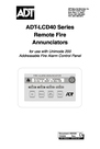 ADT Security Services ADT-LCD40 Manual