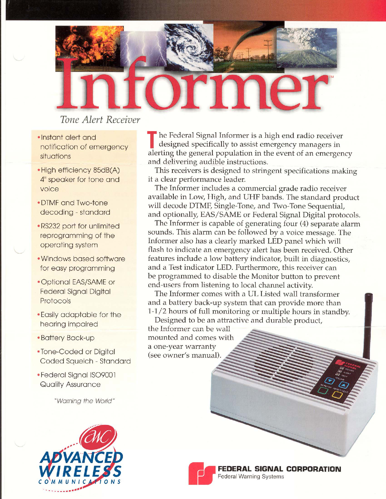 Advanced Wireless Solutions Informer Manual