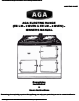Aga Ranges EINS513307 Owner Manual