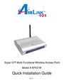 Airlink AP431W Manual