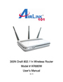 Airlink101 300N User Manual
