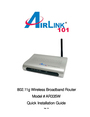 Airlink101 AR335W Manual