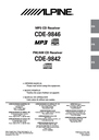 Alpine CDE-9846 Owner Manual