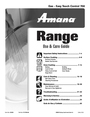 Amana 700 Important Safety Instructions