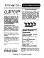 American DJ QUATRO II Specifications