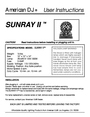American DJ Sunray Specifications