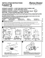 American Standard 2568 Installation Instructions