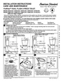 American Standard 2484.216 Installation Instructions