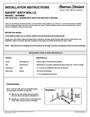 American Standard 2649BW Installation Instructions