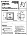 American Standard T555740 Installation Instructions