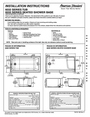 American Standard Tub, Seated Shower Base Installation Instructions