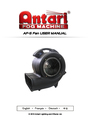 Antari Lighting and Effects AF-5 User Manual