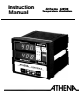Athena Technologies 6050 Instruction Manual