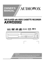 Audiovox AXWD2002 Owner Manual