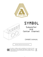 Avalon Acoustics AVALON SYMBOL Subwoofer And Center Channel Manual