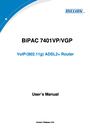 Billion Electric Company VoIP/(802.11g) ADSL2+ Router User Manual