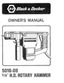 Black & Decker 5016-09 Manual