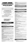 Black & Decker 381341-01 Instruction Manual