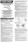 Black & Decker BDRS1800 Instruction Manual
