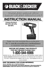 Black & Decker BD12PS Instruction Manual