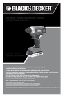 Black & Decker BDCD220IA Instruction Manual