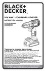 Black & Decker BDCDE120C Instruction Manual