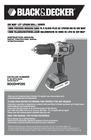 Black & Decker BDCDHP220 Instruction Manual