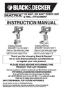 Black & Decker BDCDMT1206KITS Instruction Manual