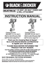 Black & Decker BDCDMT120-2 Instruction Manual