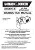 Black & Decker BDCDMT120 Instruction Manual