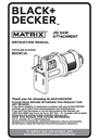 Black & Decker BDCMTJS Instruction Manual