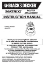 Black & Decker BDCMTR Instruction Manual
