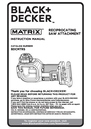 Black & Decker BDCMTRS Instruction Manual