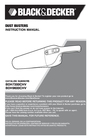 Black & Decker BDH9600CHV Instruction Manual