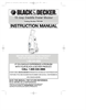 Black & Decker 598121-00 Instruction Manual