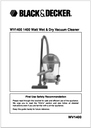 Black & Decker WV1400 Manual